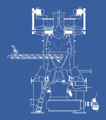 vertical roller mill process principle